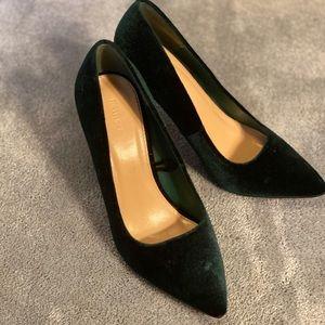 Green Velvet Heels